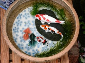 20100923(55)鉢の鯉と金魚.JPG