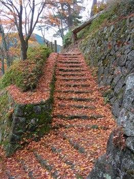 吉野詣(14)-2落ち葉の階段.JPG
