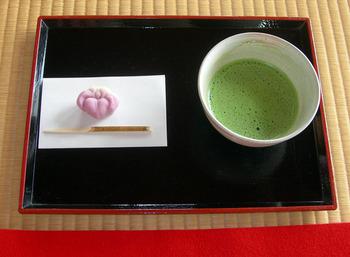 浜離宮恩賜庭園18和菓子と抹茶.jpg