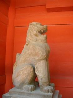 香取神宮(13)楼門の狛犬1.JPG